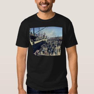 Yokohama Harbor Japan Vintage Shipping 横浜港 T-shirt