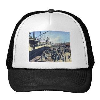 Yokohama Harbor Japan Vintage Shipping 横浜港 Trucker Hat