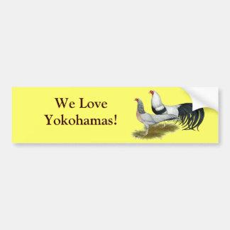 Yokohama:  Silver Duckwing Pair Car Bumper Sticker