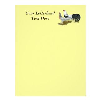 Yokohama Silver Duckwing Pair Personalized Letterhead