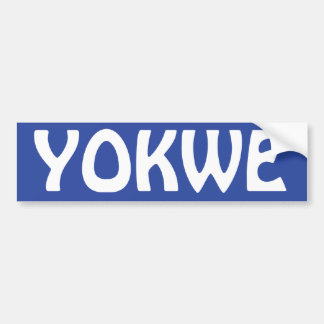 YOKWE - Marshallese greeting to you all! Bumper Sticker
