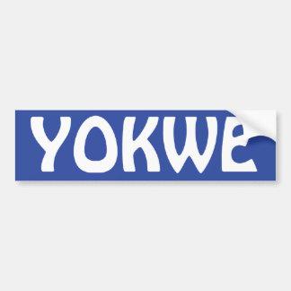 YOKWE - ¡Marshallese que saluda a usted todo! Pegatina Para Auto