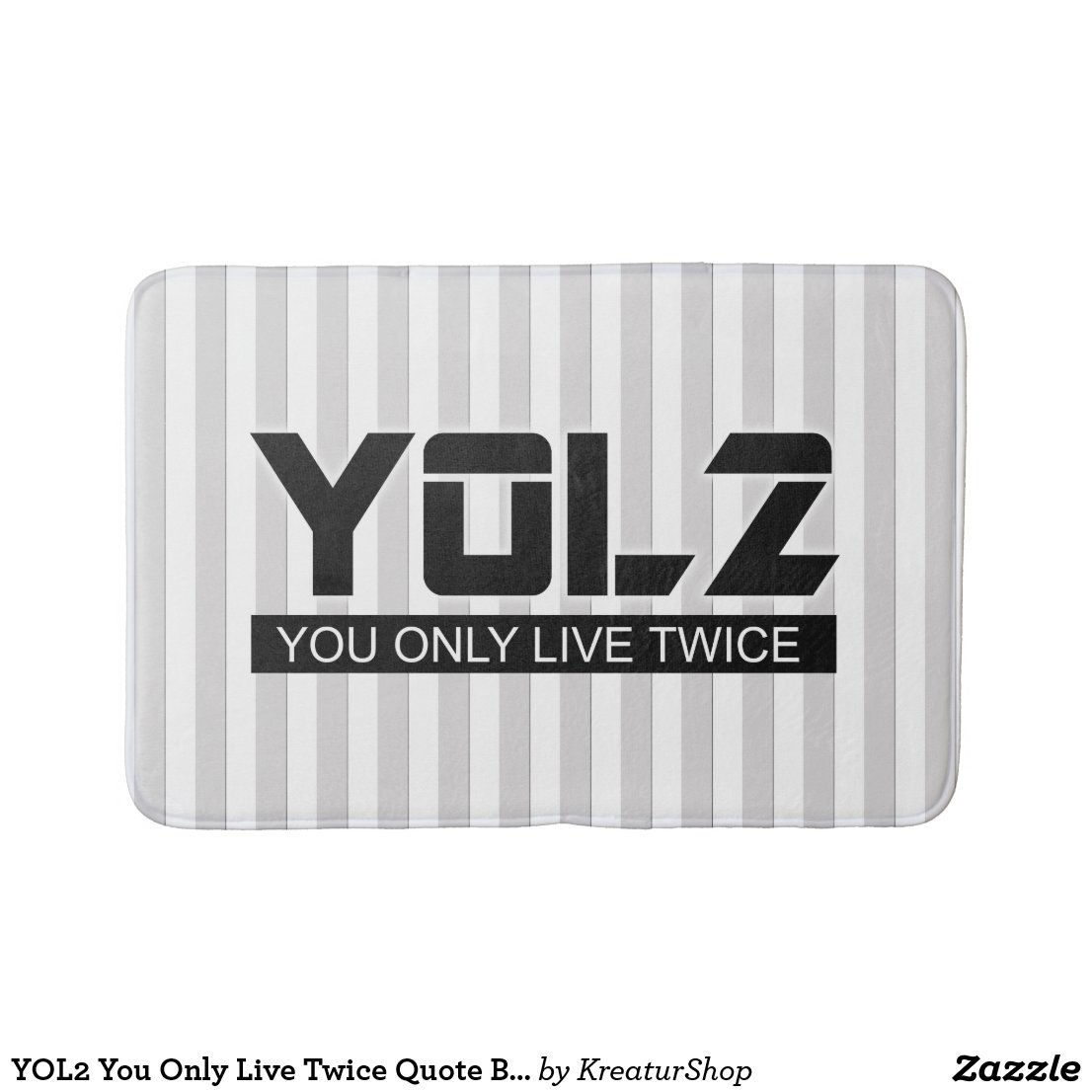 YOL2 You Only Live Twice Quote Black on any Color