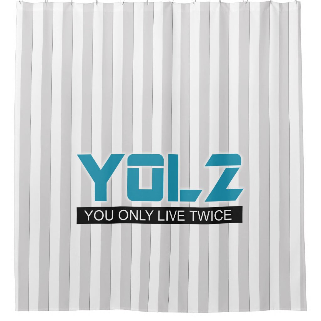YOL2 You Only Live Twice Quote Blue on any Color