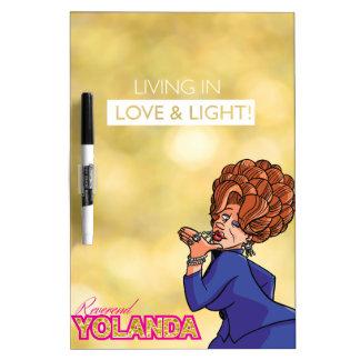 Yolanda reverenda - viviendo en amor y luz pizarra blanca