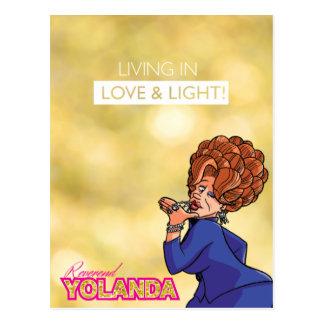 Yolanda reverenda - viviendo en amor y luz postales