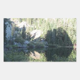Yolly Bolly Ca Landscape Skyscape Waterscape Rectangular Sticker