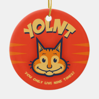 YOLNT Double-Sided CERAMIC ROUND CHRISTMAS ORNAMENT
