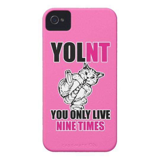 YOLNT You Only Live Nine Times Cat iPhone4/4S Case