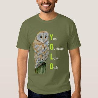 YOLO Barn owl watercolor T-Shirt