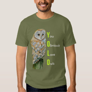 YOLO Barn owl watercolor Tshirts