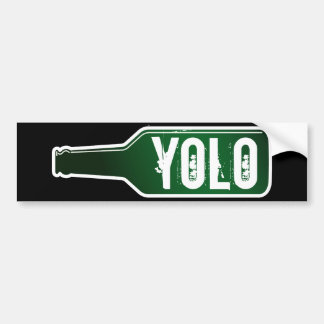 Yolo bumper sticker | You Only Live Once Car Bumper Sticker