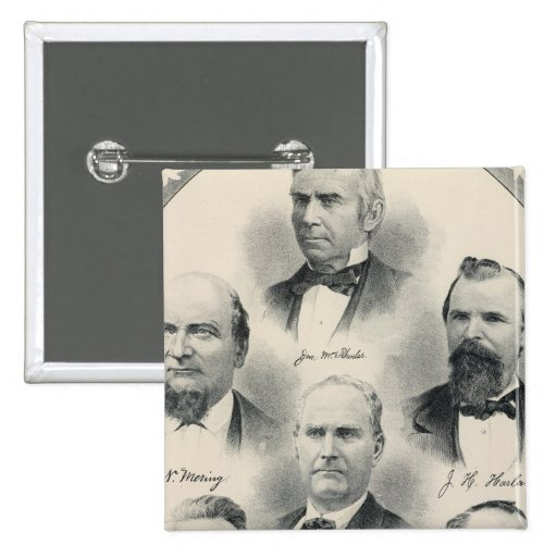 Yolo Co lithographed portraits 2 Inch Square Button