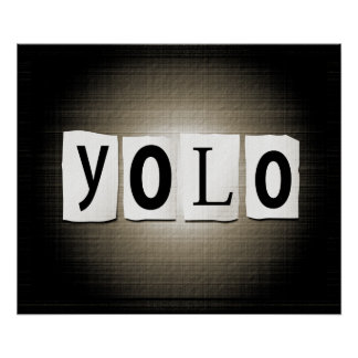 YOLO concept. Poster