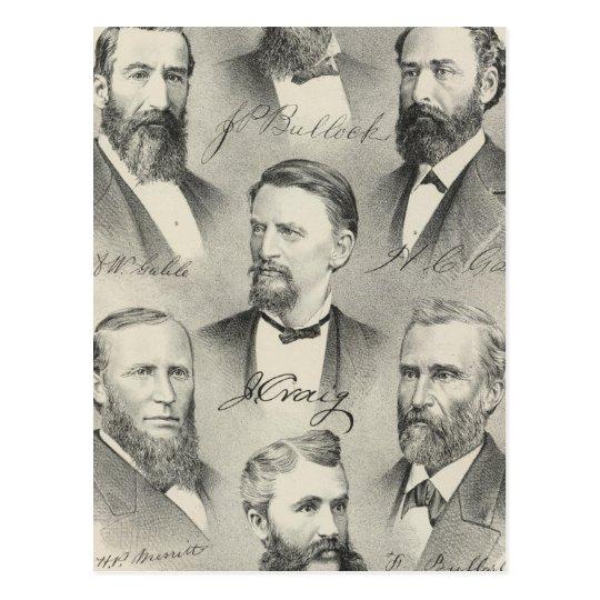 Yolo County lithographed portraits Postcard