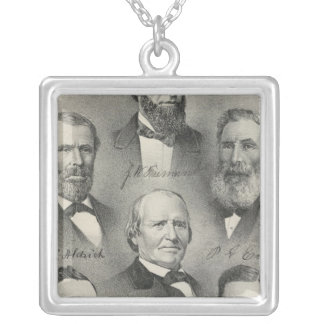 Yolo County portraits Silver Plated Necklace