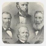 Yolo County portraits Square Sticker