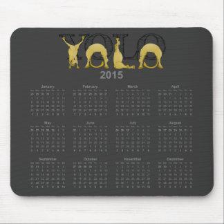 YOLO flexible pony calendar 2015 Mouse Pad