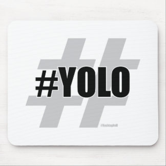 YOLO Hashtag Mouse Pad