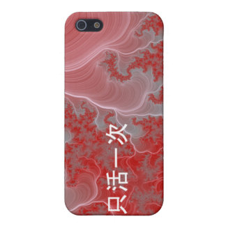Yolo in Chinese Characters-Red Fractal Design iPhone 5 Case