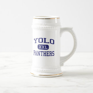Yolo - Panthers - Junior - Newman California 18 Oz Beer Stein