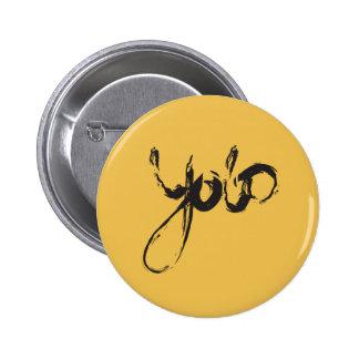 Yolo (plain background) pinback button