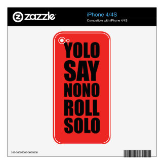 YOLO Roll Solo Decals For The iPhone 4