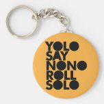 YOLO Roll Solo Filled Basic Round Button Keychain
