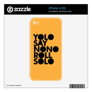 YOLO Roll Solo Filled iPhone 4S Decal