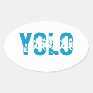 YOLO OVAL STICKER