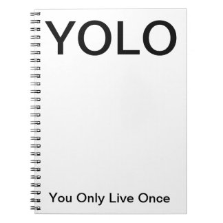 YOLO usted vive solamente una vez cuaderno