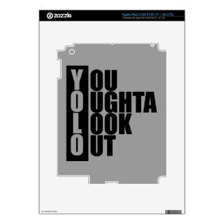 YOLO Vertical Box Decals For iPad 3