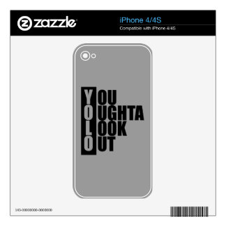 YOLO Vertical Box Skin For The iPhone 4S