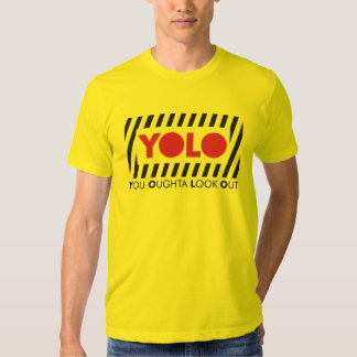 YOLO w/ Red Caution Tee Shirt