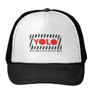 YOLO w/ Red Caution Trucker Hat