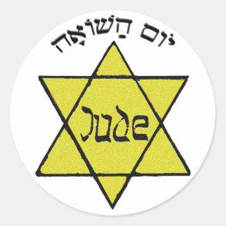 Yom HaShoah Classic Round Sticker