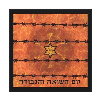Yom HaShoah Impresión En Lona Estirada