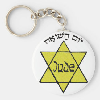 Yom HaShoah Llavero Redondo Tipo Pin
