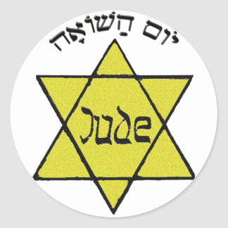 Yom HaShoah Pegatina Redonda