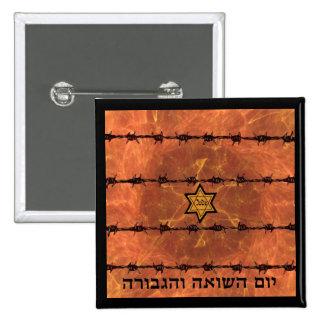 Yom HaShoah Pin Cuadrado