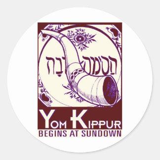 Yom_Kippur3 Classic Round Sticker
