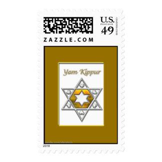 Yom Kippur Gold Postage Stamp