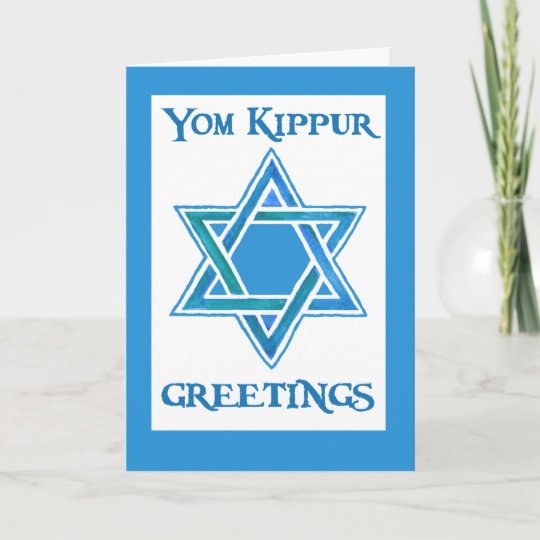 Yom kippur greeting card star of david zazzle yom kippur greeting card star of david m4hsunfo