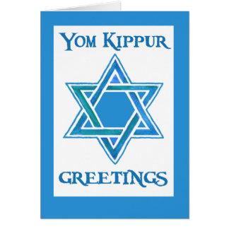 Yom Kippur Greeting Card - Star of David