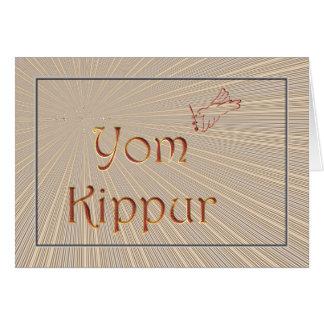 Yom Kippur Jewish Holiday Fasting Judaism Holy Day Card