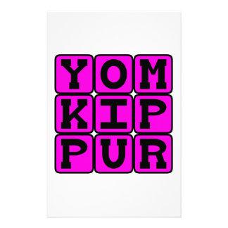 Yom Kipur, día de reparación Papelería