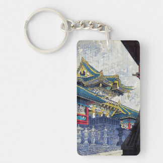 Yomei Gate in Drizzling Rain Shiro Kasamatsu Acrylic Key Chains