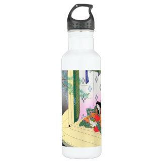 Yomogyu The Tale of Genji japanese lady scenery Water Bottle