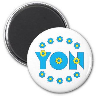 Yon in Flores Blue Magnet