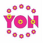 Yon in Flores Pink Photo Cutout